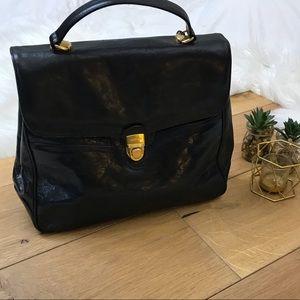 Orton Black Leather Handbag